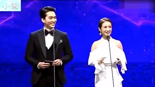 宋承宪和林依晨同台颁奖,林依晨秀流利韩文,真给国人长脸!