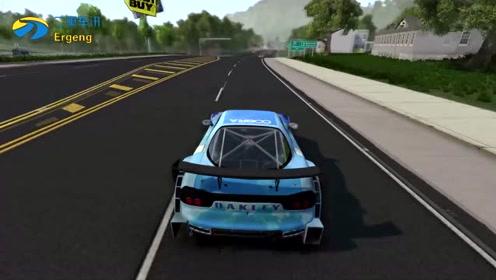 疯狂的F1赛车逆行高速公路,过程太亮眼了