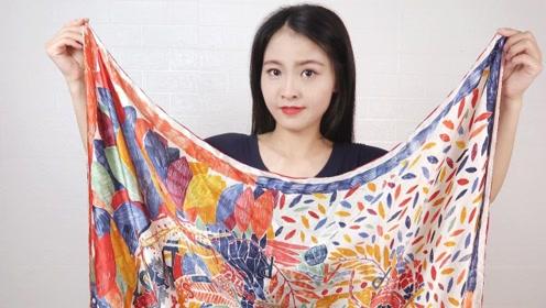2款一见钟情的丝巾系法,搭配裙子穿,时髦又不挑年龄!