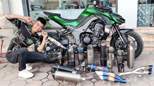 各种奇特的摩托车排气管,装上之后声浪比超跑还强,太震撼了!