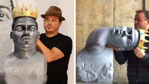 大叔用纸打造一系列神奇的雕塑,轻轻一碰不仅能拉伸,还能还原!