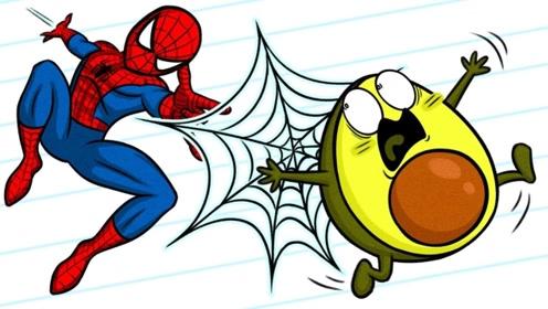 奶油动画:蔬菜超级英雄,钢铁侠、蜘蛛侠、浩克