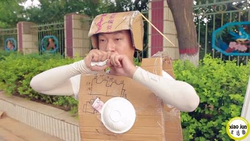 10秒喝完牛奶奖100元,没想来个机器人,1秒喝1袋