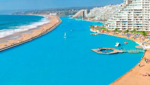 世界最大的泳池,这是一个蓝色的大湖吧!有生之年一定要去!
