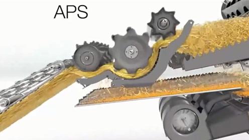 长见识了!收割机内部工作原理3D详解,终于明白了