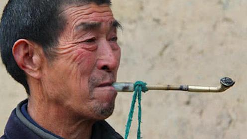 """农村老汉精通祖传""""招蛇术"""",只要念几句口诀,毒蛇纷纷涌到身旁"""