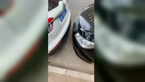 原来北京都是这样停车的啊,我车怎么出来