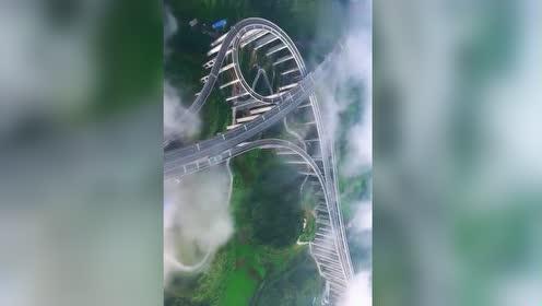 国内这段高速公路你见过吗?高度穿越云端,新手都不敢驾驶!
