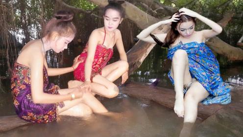 柬埔寨女人为什么都去河边洗澡?不怕被偷看吗,原因让人坐不住了