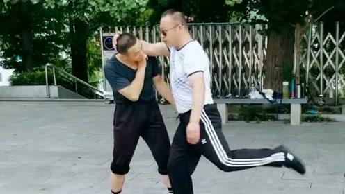 通背拳实战应用教学,高手慢动作演示,行家一看就懂