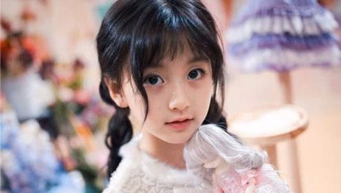 被王思聪关注的最美童星 9岁化浓妆,穿大人西装御姐范十足