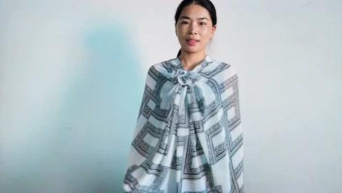 丝巾怎么改造成防晒衣?不用剪刀,不用针钱,分分钟搞定