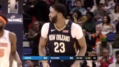 NBA球星集锦:浓眉哥拿住球就没人能防的住,扣篮姿势太帅了!
