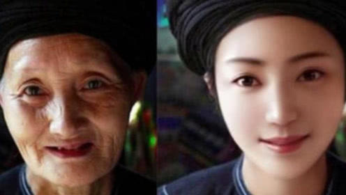 修图大神把90岁老奶奶的照片,变回年经的模样!感觉好暖心