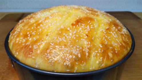 家常面包最好吃做法,不烤不烙,加一碗绿豆,出锅给肉都不换