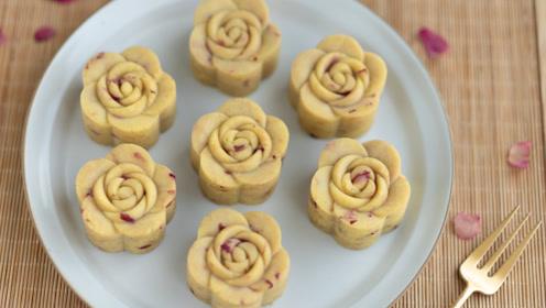 这朵花太好吃了,奶香+玫瑰香,口感超级绵密,快来看看怎么做的
