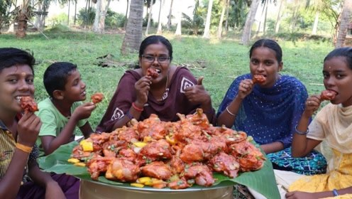 """印度人到底有多爱吃辣?看看这只""""咖喱鸡"""",一大锅鸡腿巨诱人!"""