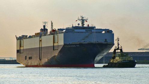 13层甲板运7500辆车!全球巨大巨舰在中国下水:满排4万吨