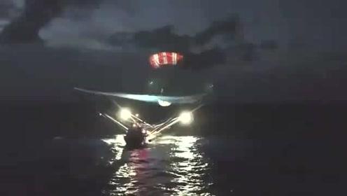 今天早上,SpaceX猎鹰九号火箭再次发射,整流罩回收船再次成功