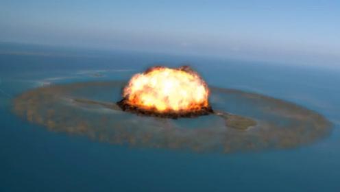 为了对付魔鬼巨鲸,军方用核弹炸岛,岛上女博士为了活命拼命跑