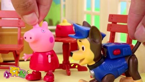 猪妈妈送施魔法的红舞鞋给佩奇 只要穿上就会不停的跳舞