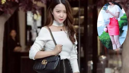 小姐姐白色清凉上装搭配颜色鲜明的紧身短裙 展示美妙身材