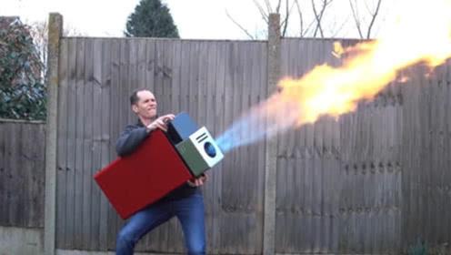 男子发明巨无霸打火机,本来想点烟,结果悲剧了!
