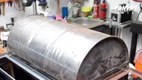 BBQ最牛的装备自己动手做 如何用油桶自制一个烧烤炉子