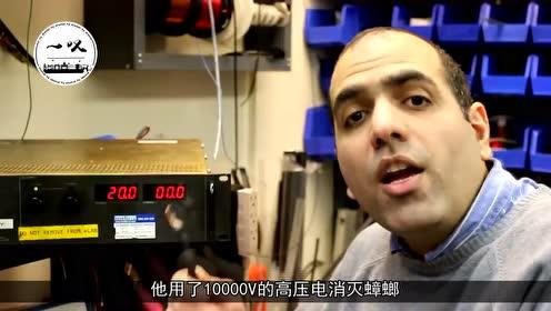 男子为消灭蟑螂,竟用上了10000V电压,网友:这有多大仇