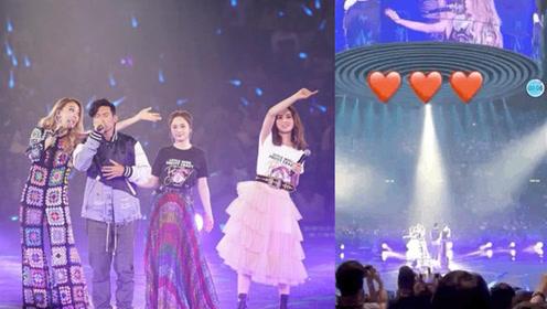 赖弘国现身阿娇演唱会,晒现场视频发射爱心力证感情甜蜜