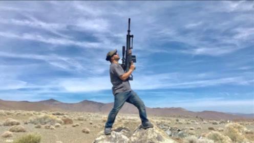 """巴雷特朝天开一""""枪"""",子弹多久会落地?牛人亲测,结果意外了!"""