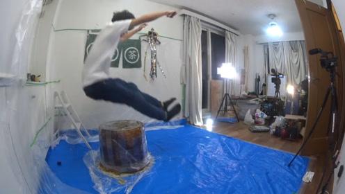 从高处落下,如果底下有个巨大又Q弹的果冻,能减缓疼痛感么