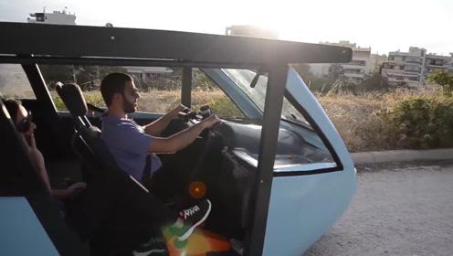 希腊发明智能电动三轮车,竟然拥有三种驱动方式。脑洞大开啊!