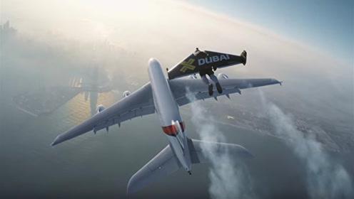 """小伙发明能飞的""""翅膀"""",穿在身上就能飞行!时速可达100公里"""