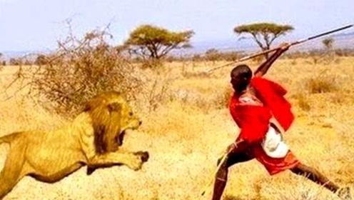 """狮子为什么惧怕""""马赛人""""?跟着镜头感受一下,可能你也会怕"""