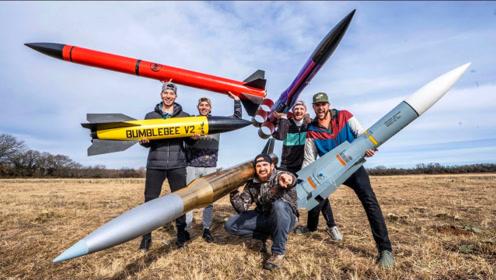 老外发起的火箭模型大PK!谁的火箭能飞的最高?结局很意外!