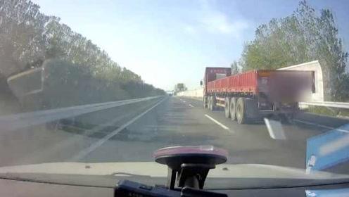 危险!司机高速上抛物砸中后车玻璃,民警喊话:主动来受处罚