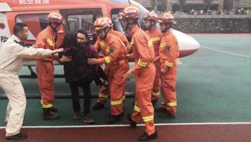 紧急救援!汶川卧龙96人被困30余小时,直升机正转移被困人员