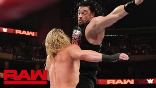 RAW1369期: 道夫挤脸刺激对手遭罗门伦斯飞冲肩撞翻