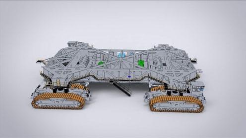 世界上最大的履带运输车,重量约2722吨,能承载八千吨钢铁!