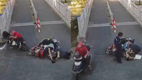 男子撞倒孕妇儿童 扶起电动车就开溜:我以为跑了就不用赔了