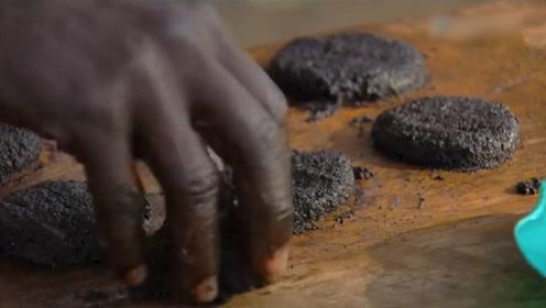 非洲奇葩的蚊子饼,50万只揉成一块,据说营养是牛肉的7倍!