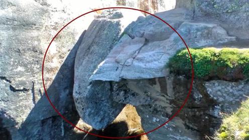 世界上最凶险的石头,位于悬崖中间,至今无人敢去