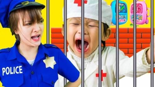 坏哥哥抢萌娃糖吃,警察姐姐掏出魔法糖果,把哥哥狠狠教训一番!