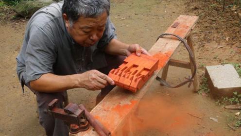 """实拍牛人制作鲁班凳,不用一个螺丝,却完成""""绝世之作""""!"""