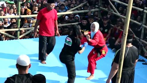 罕见民间女拳击手,就问你怕不怕,太猛了