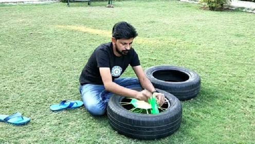 废旧的轮胎不要扔,拿来简单的改造一下,既简单又实用!