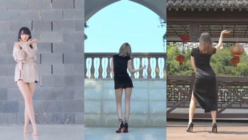 美女穿旗袍高跟跳中国风舞蹈《风月》,凹凸玲珑,楚楚动人