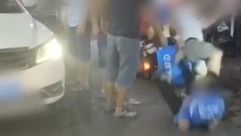 外卖小哥被当街殴打,涉案人员在逃警方已立案调查