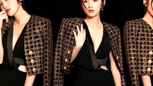 唐艺昕这次造型不同于以往甜美风格,诠释十足的女人味